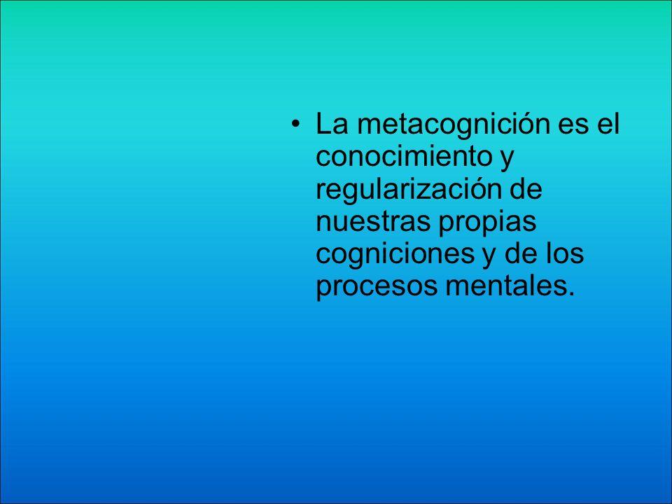 Las estrategias metacognitivas son los procesos y habilidades de cada persona, destacan la reflexión o pensamiento sobre el propio rendimiento cognitivo.