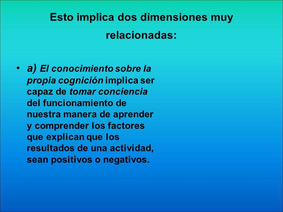 b) La regulación y control de las actividades que el alumno realiza durante su aprendizaje.