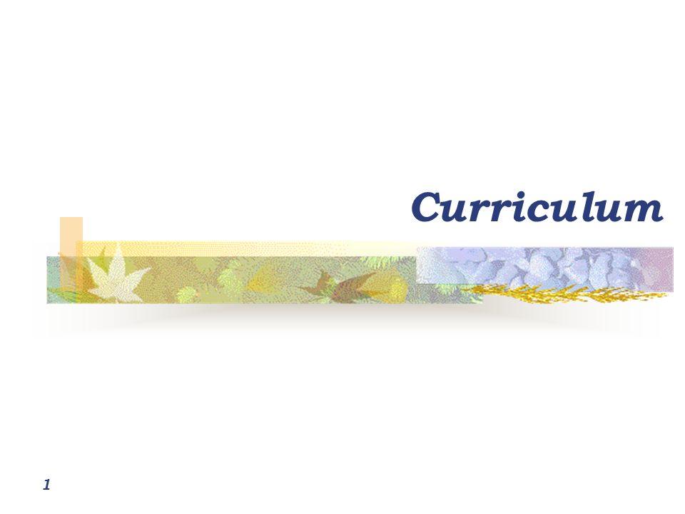 1 Curriculum