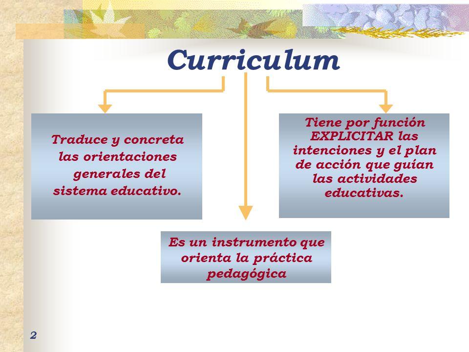 2 Traduce y concreta las orientaciones generales del sistema educativo. Es un instrumento que orienta la práctica pedagógica Tiene por función EXPLICI