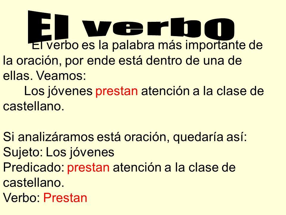 El verbo es la palabra más importante de la oración, por ende está dentro de una de ellas.