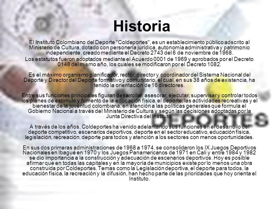 Historia El Instituto Colombiano del Deporte