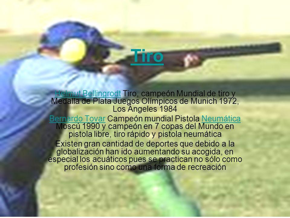 Tiro Helmut BellingrodtHelmut Bellingrodt Tiro, campeón Mundial de tiro y Medalla de Plata Juegos Olímpicos de Munich 1972, Los Ángeles 1984 Bernardo