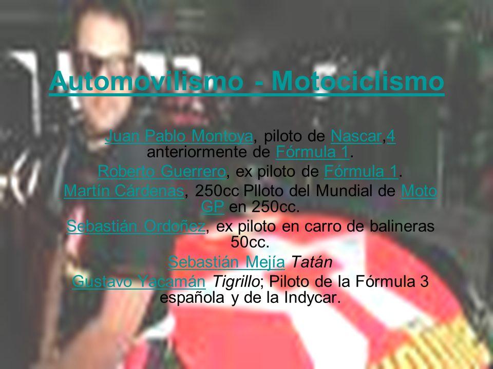 Automovilismo - Motociclismo Juan Pablo MontoyaJuan Pablo Montoya, piloto de Nascar,4 anteriormente de Fórmula 1.Nascar4Fórmula 1 Roberto GuerreroRobe