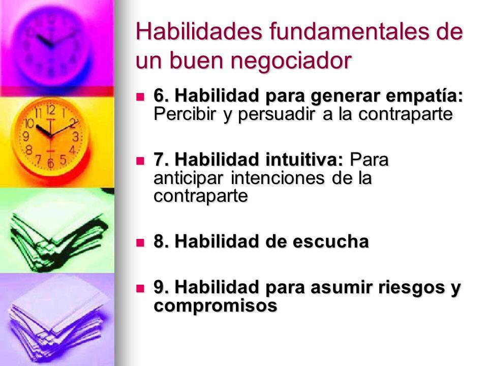 Habilidades fundamentales de un buen negociador 6. Habilidad para generar empatía: Percibir y persuadir a la contraparte 6. Habilidad para generar emp