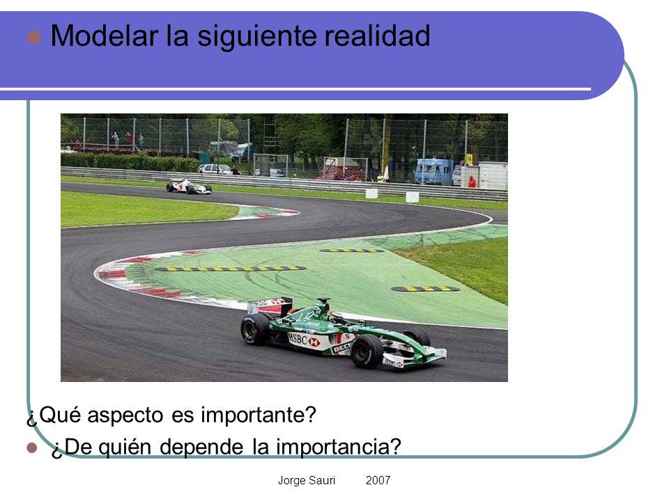 Jorge Sauri 2007 Modelar la siguiente realidad ¿Qué aspecto es importante? ¿De quién depende la importancia?