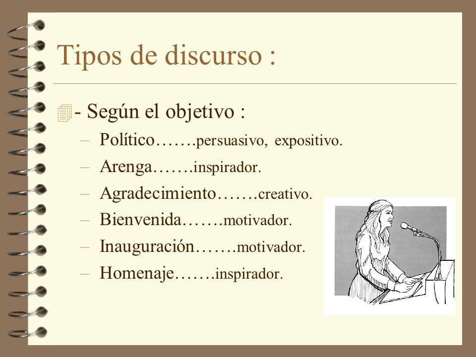 Preparación : –Entender que el natural temor a hablar en público, sólo se explica por la responsabilidad y el deseo de hacerlo bien.