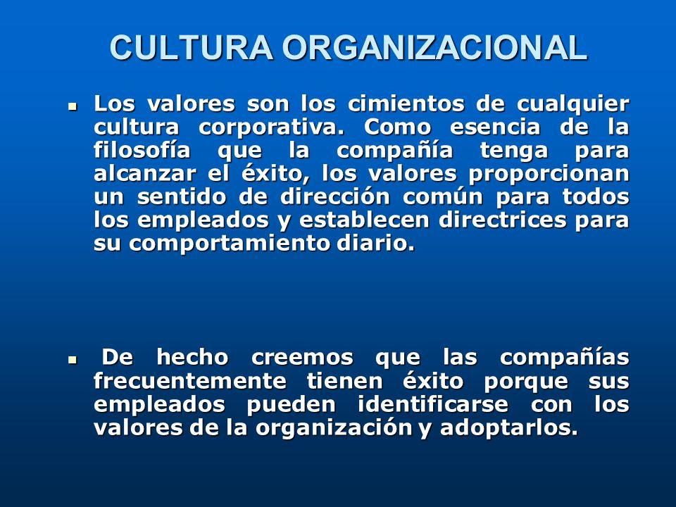 Los valores son los cimientos de cualquier cultura corporativa. Como esencia de la filosofía que la compañía tenga para alcanzar el éxito, los valores