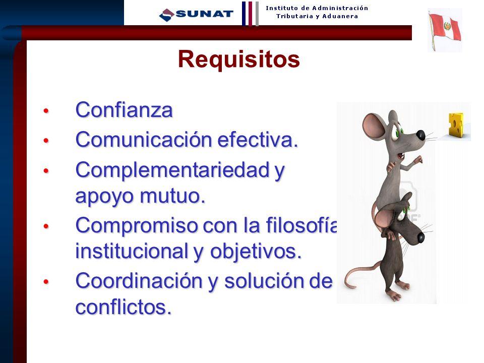 5 Confianza Confianza Comunicación efectiva. Comunicación efectiva. Complementariedad y apoyo mutuo. Complementariedad y apoyo mutuo. Compromiso con l