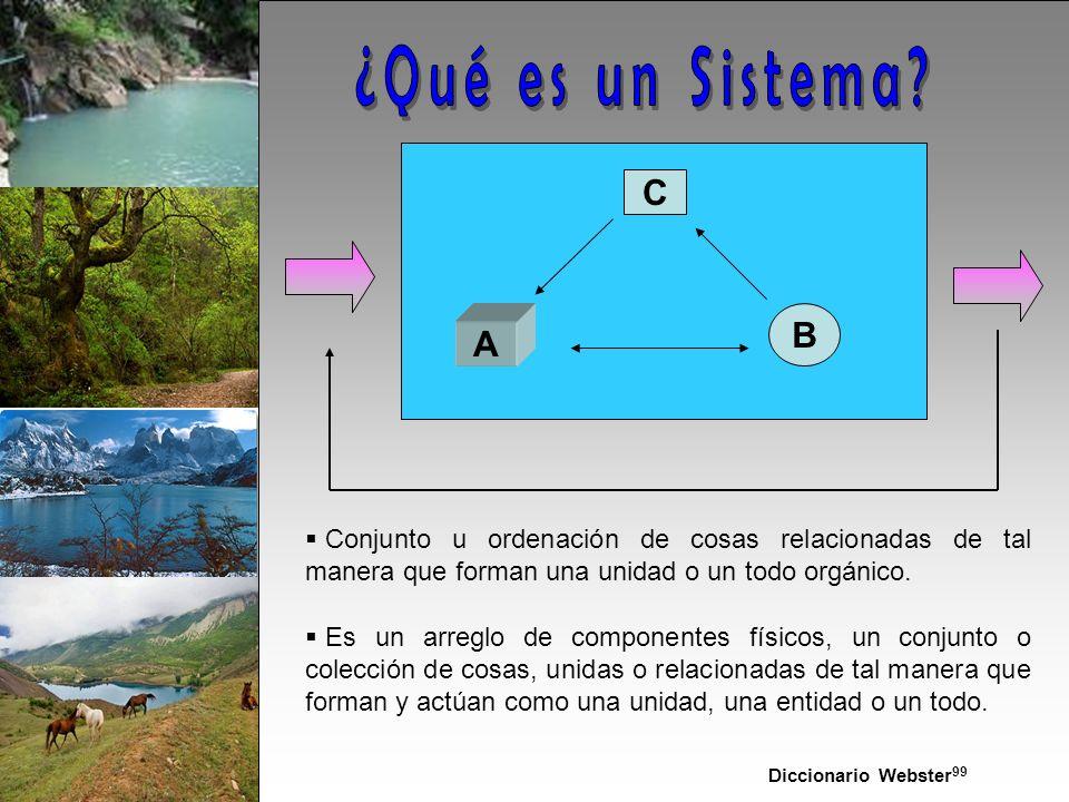 C A B Conjunto u ordenación de cosas relacionadas de tal manera que forman una unidad o un todo orgánico.