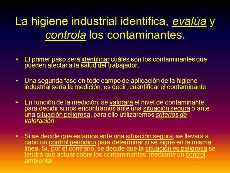 El primer paso será identificar cuáles son los contaminantes que pueden afectar a la salud del trabajador.