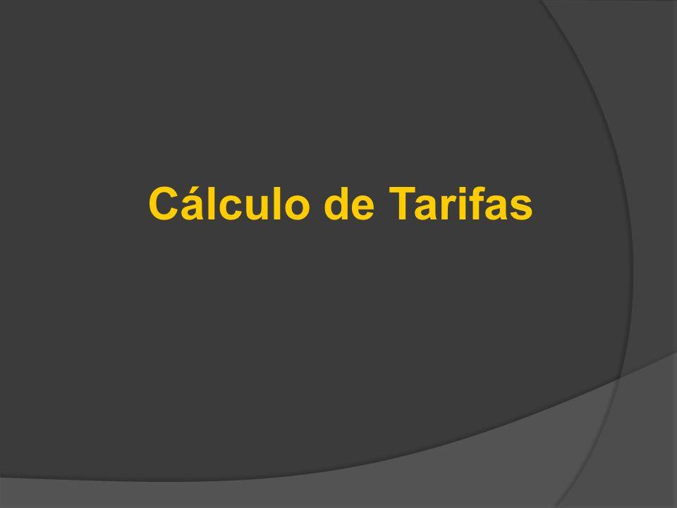 Cálculo de Tarifas