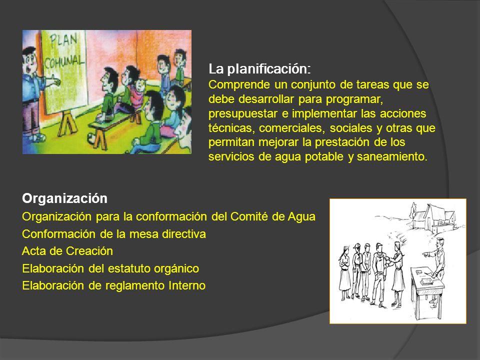 La planificación: Comprende un conjunto de tareas que se debe desarrollar para programar, presupuestar e implementar las acciones técnicas, comerciale