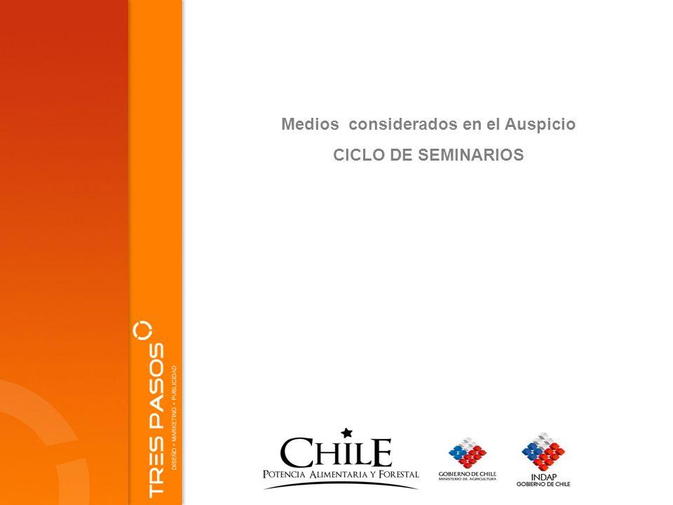 Medios considerados en el Auspicio CICLO DE SEMINARIOS