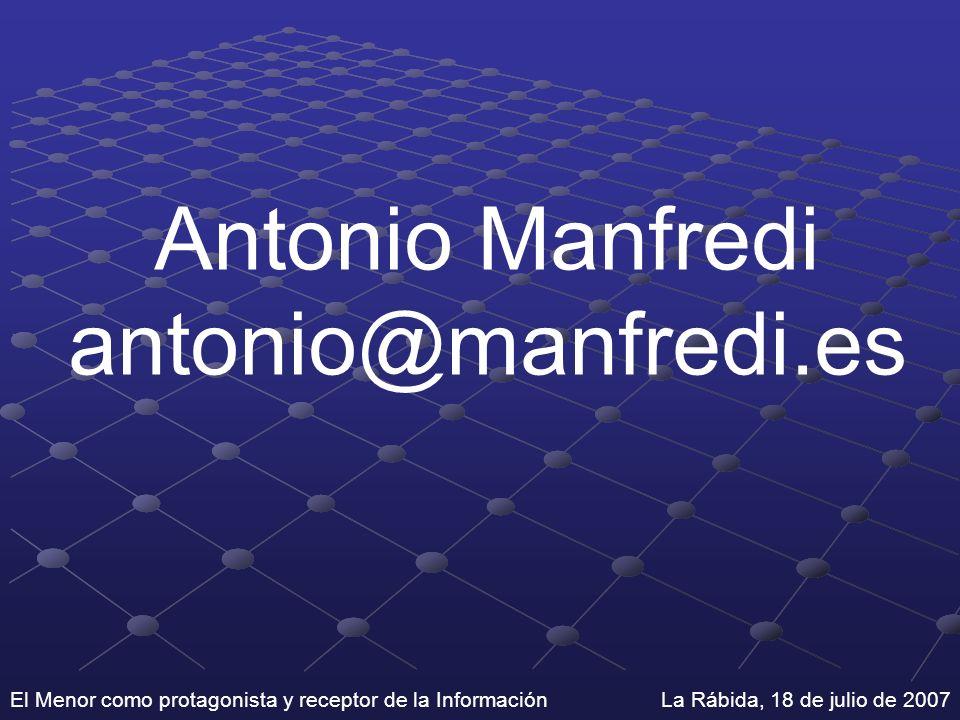 Antonio Manfredi antonio@manfredi.es