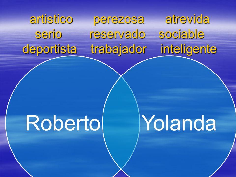 artistico perezosa atrevida serio reservado sociable deportista trabajador inteligente RobertoYolanda