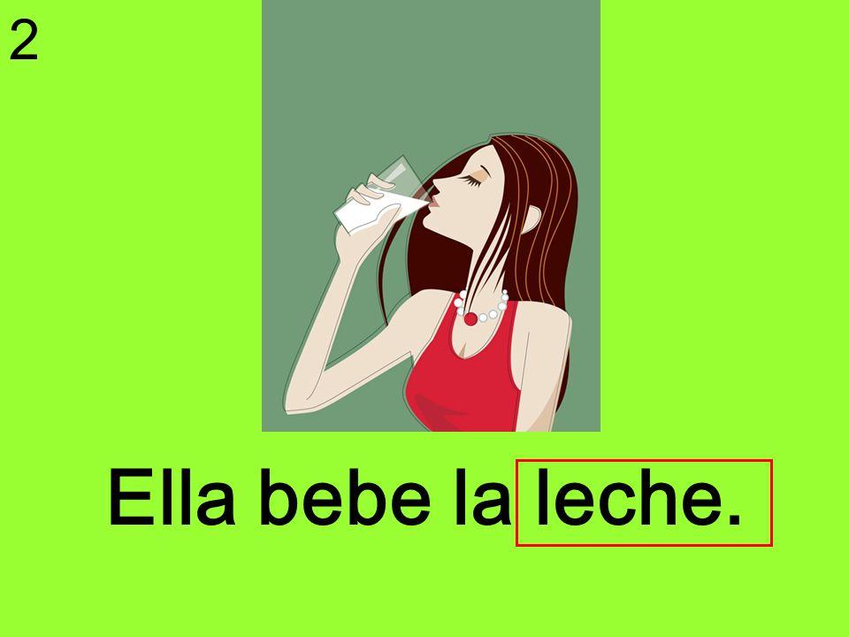 Ella bebe la leche. 2