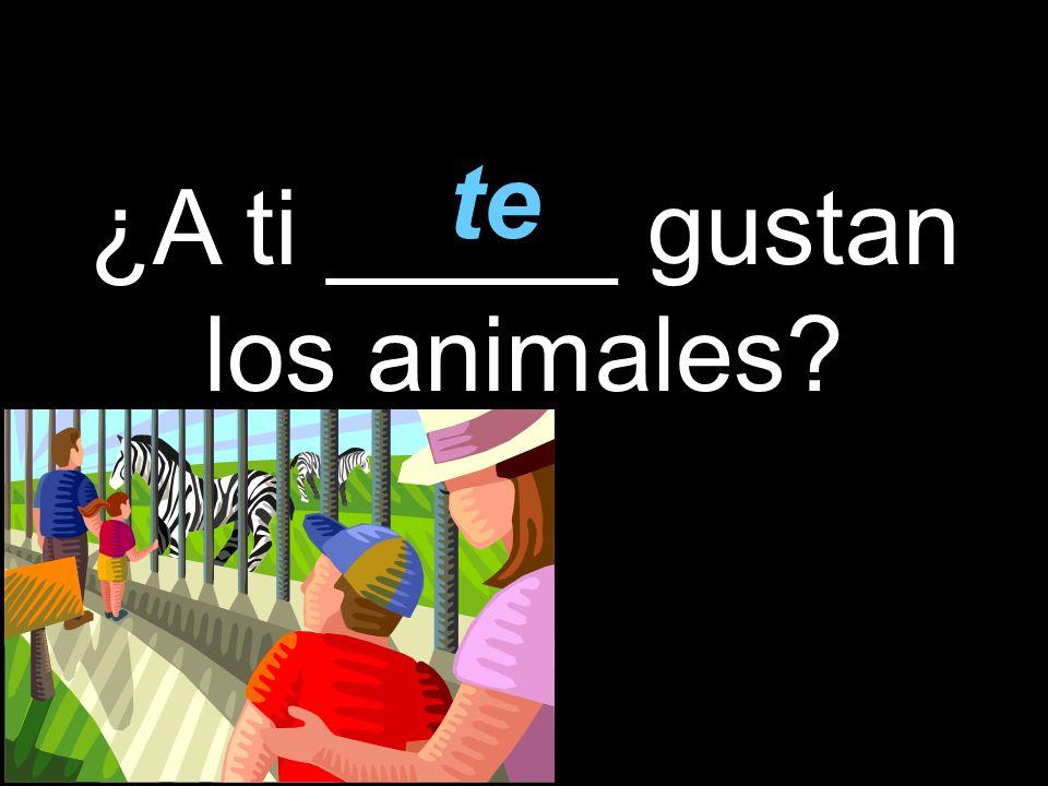 ¿A ti _____ gustan los animales te