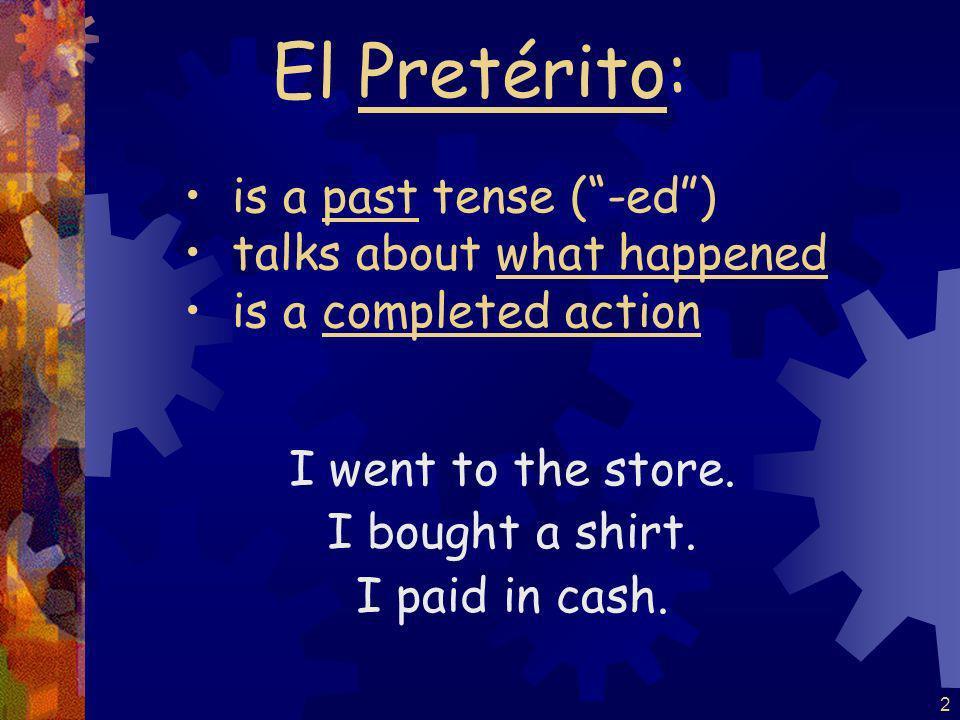 1 El Pretérito de los verbos