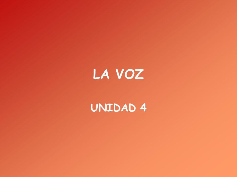 LA VOZ UNIDAD 4