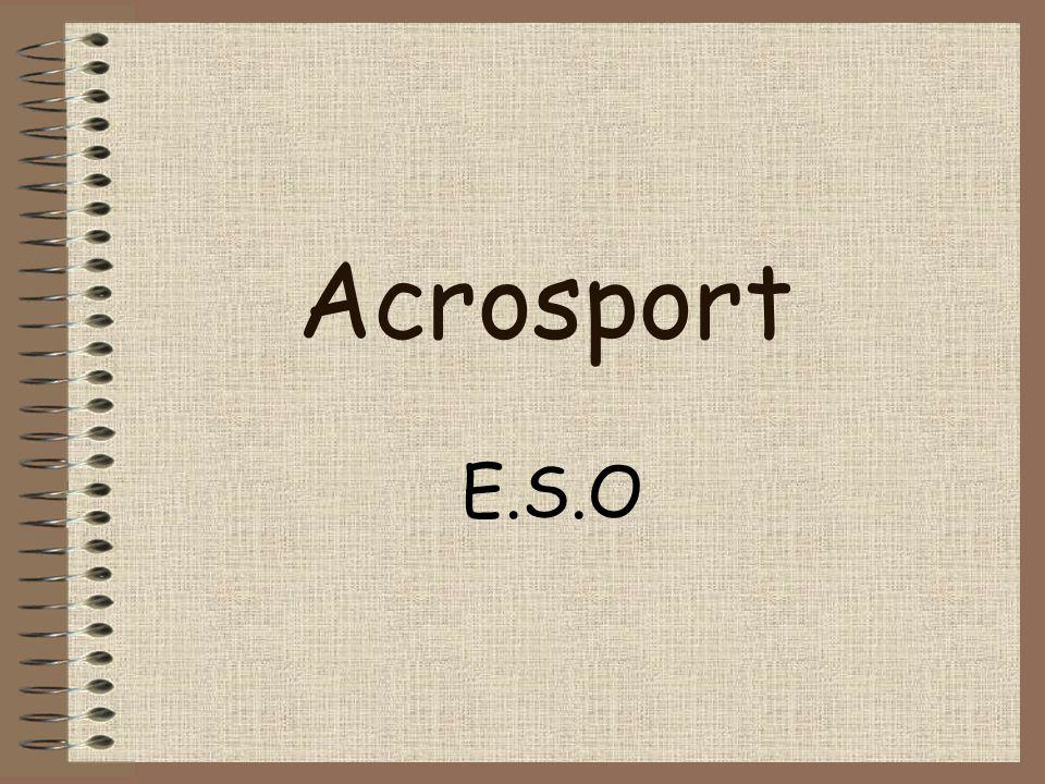Antecedentes El Acrosport es una nueva modalidad deportiva en la que se combinan habilidades gimnásticas y elementos coreográficos y cuyo objetivo último es la formación de figuras grupales en equilibrio (pirámides) más o menos complejas.