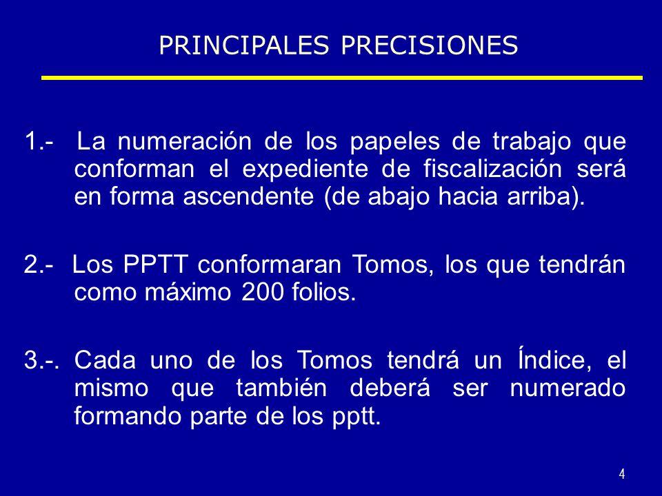 5 4.- También tendrán una caratula en donde se consignara los principales datos del contribuyente y deberá figurar el número de Tomo.