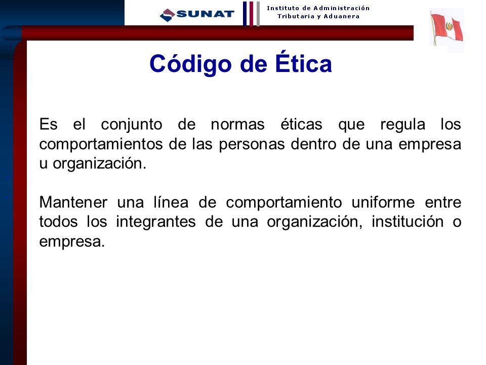 12 Código de Ética Es el conjunto de normas éticas que regula los comportamientos de las personas dentro de una empresa u organización. Mantener una l