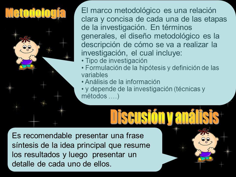 El marco metodológico es una relación clara y concisa de cada una de las etapas de la investigación. En términos generales, el diseño metodológico es