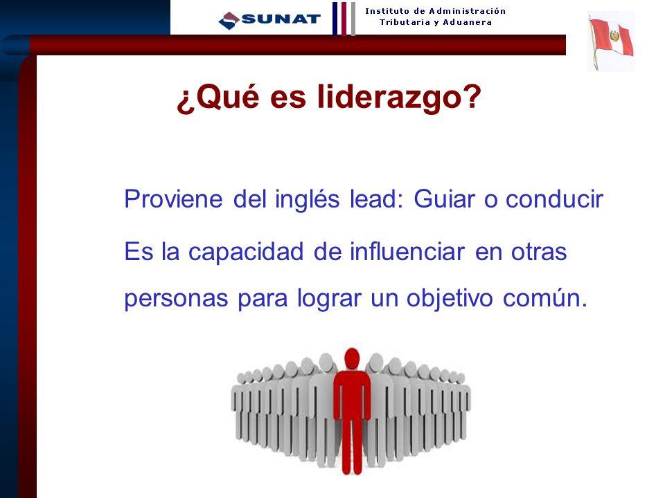 2 Proviene del inglés lead: Guiar o conducir Es la capacidad de influenciar en otras personas para lograr un objetivo común. ¿Qué es liderazgo?