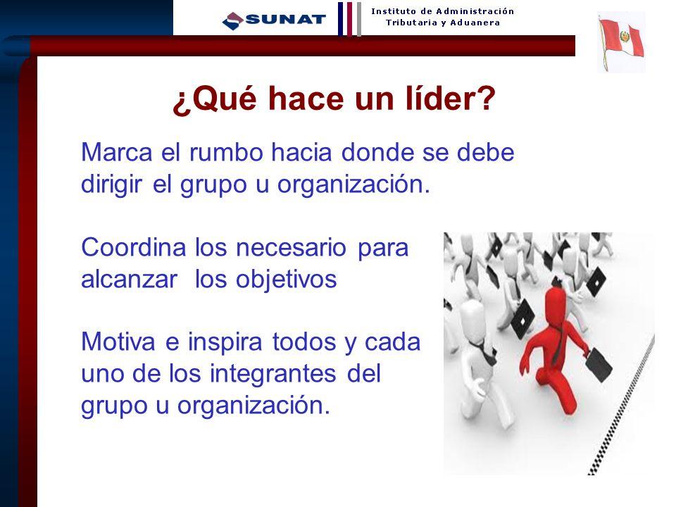 5 ¿Qué hace un líder? Marca el rumbo hacia donde se debe dirigir el grupo u organización. Coordina los necesario para alcanzar los objetivos Motiva e