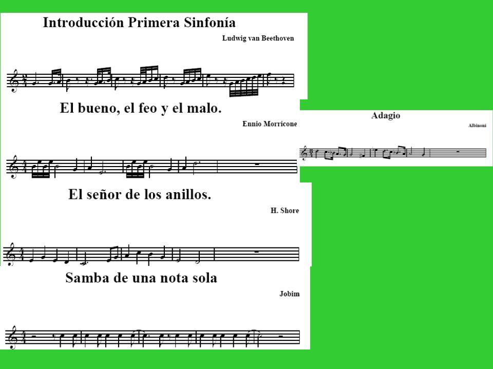 LAS FRASES MUSICALES Una melodía se puede dividir en varias frases musicales.