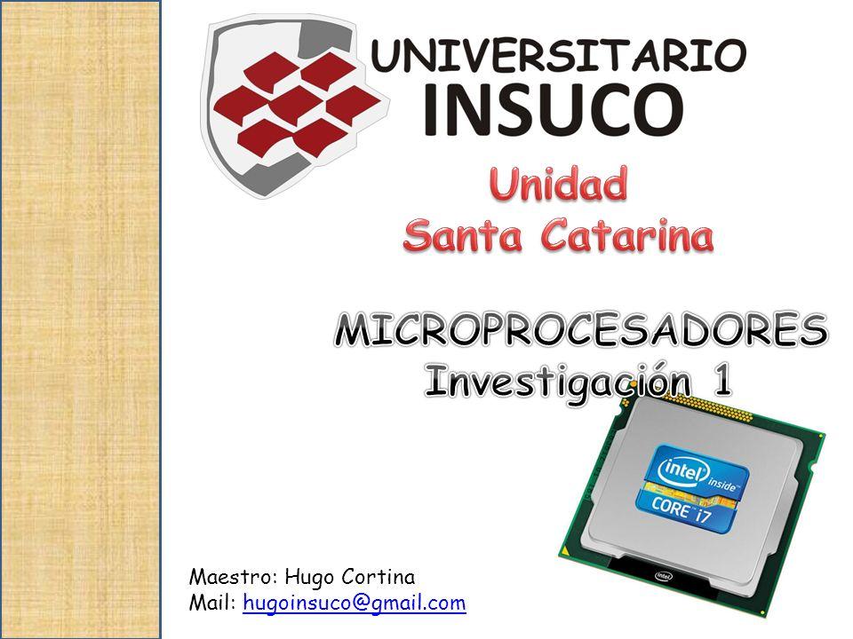 microprocesadores Al final del curso el alumno aprenderá a; Conocer mas acerca de los microprocesadores.
