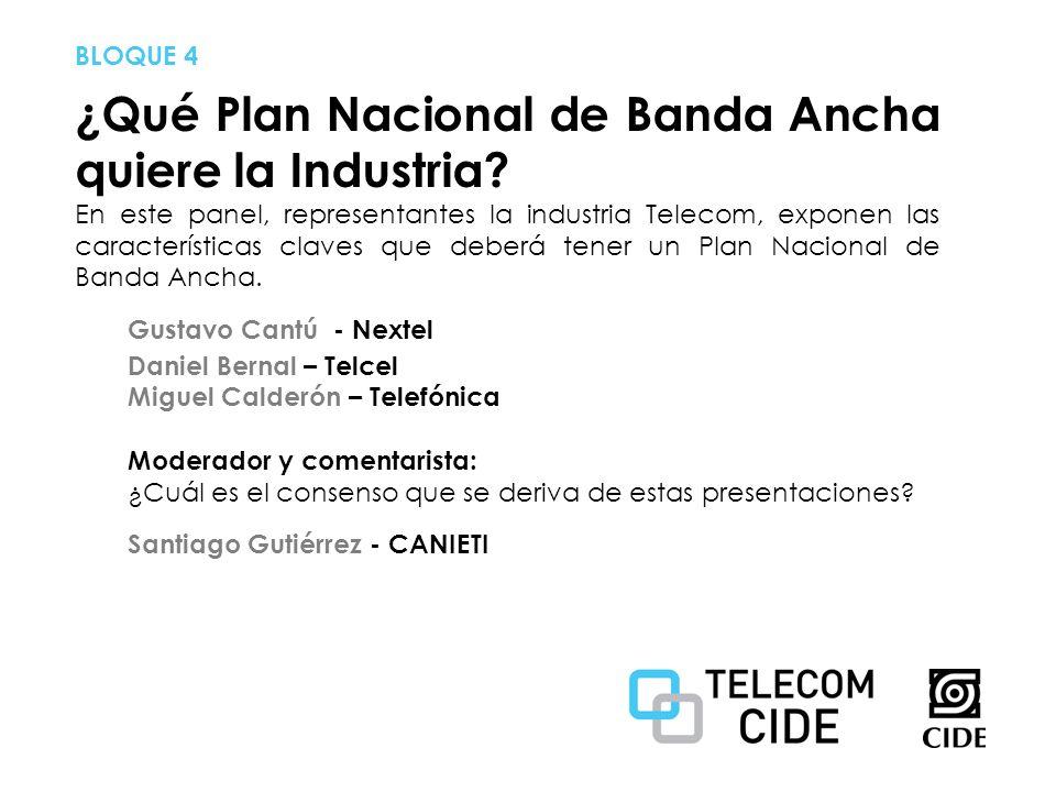 ¿Qué Plan Nacional de Banda Ancha quiere la Industria.