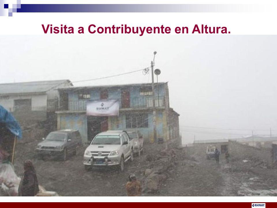 Visita a Contribuyente en Altura.