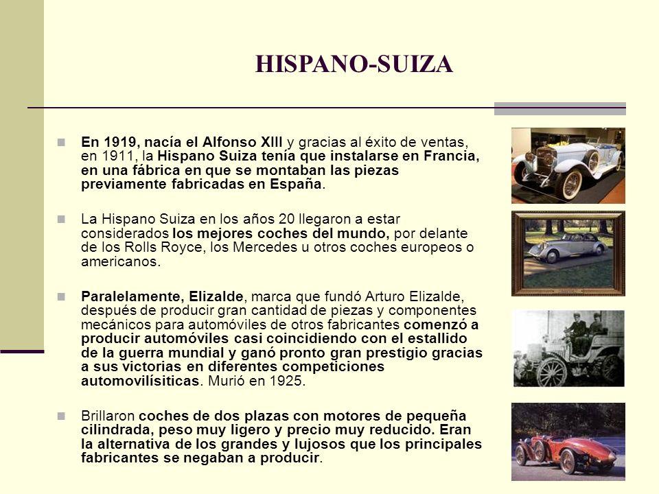 En 1919, nacía el Alfonso XIII y gracias al éxito de ventas, en 1911, la Hispano Suiza tenía que instalarse en Francia, en una fábrica en que se monta