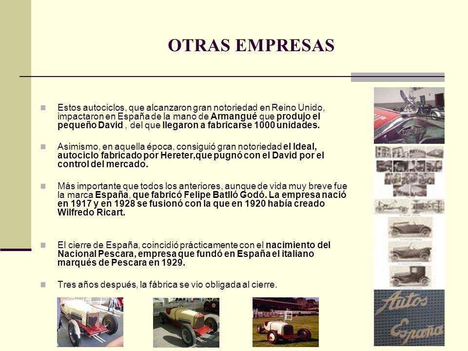 Estos autociclos, que alcanzaron gran notoriedad en Reino Unido, impactaron en España de la mano de Armangué que produjo el pequeño David, del que lle