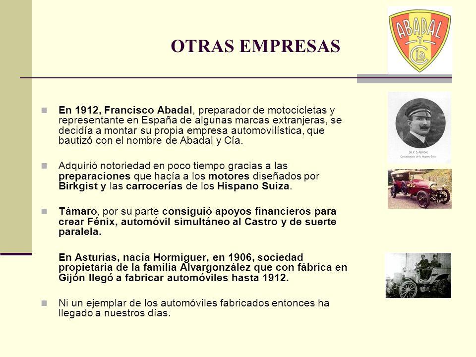 En 1912, Francisco Abadal, preparador de motocicletas y representante en España de algunas marcas extranjeras, se decidía a montar su propia empresa a
