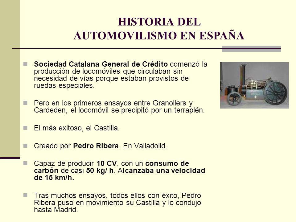 Sociedad Catalana General de Crédito comenzó la producción de locomóviles que circulaban sin necesidad de vías porque estaban provistos de ruedas espe
