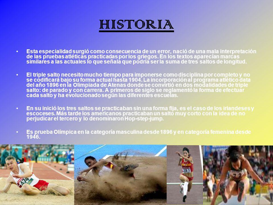 HISTORIA Esta especialidad surgió como consecuencia de un error, nació de una mala interpretación de las pruebas atléticas practicadas por los griegos