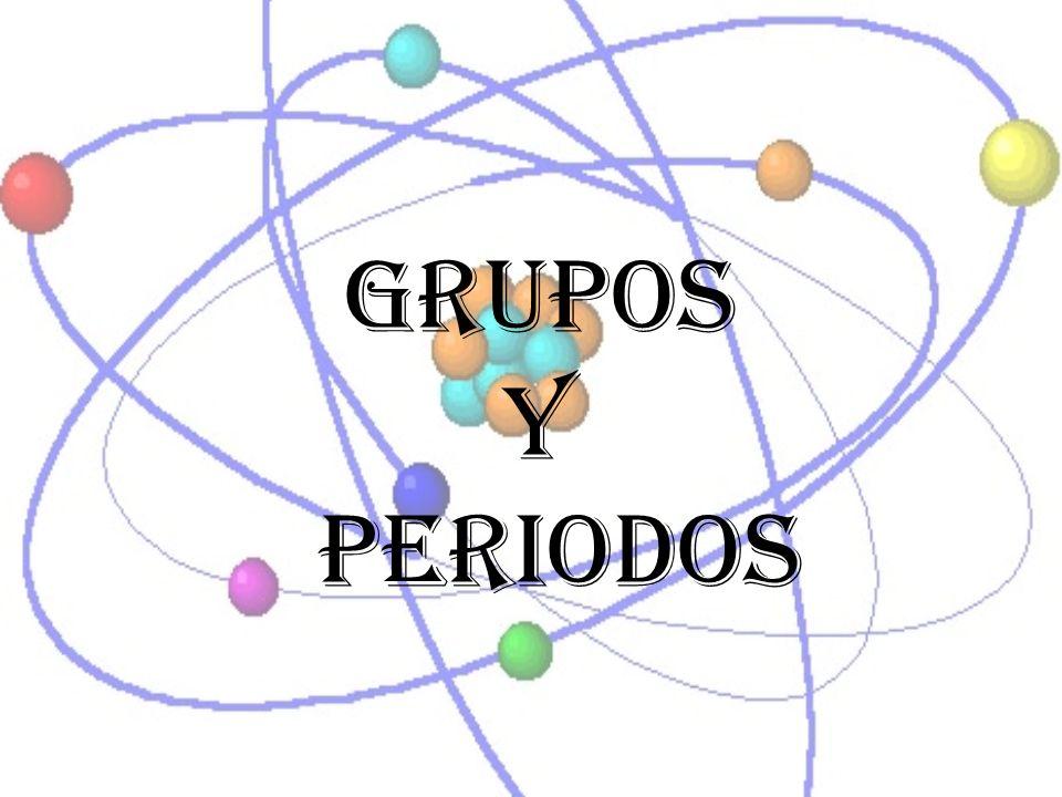 Tabla periódica de los elementos Grupos: A las columnas verticales de la Tabla Periódica se les conoce como grupos.