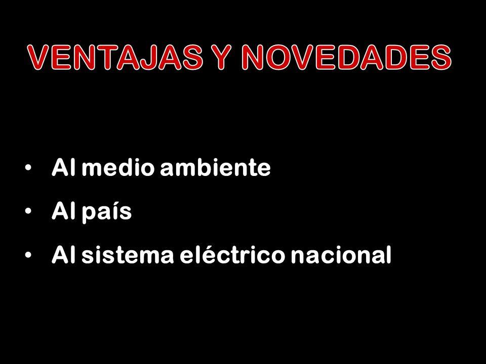 Al medio ambiente Al país Al sistema eléctrico nacional