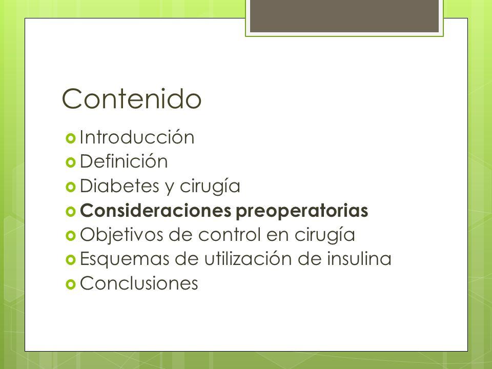 Consideraciones preoperatorias Enfermedad coexistente: Cardiovascular Renal Neuropatia Musculoesqueléticas Control metabólico Medicamentos Paraclínicos Ayuno Anaesthesia, 2006, 61, pages 1187–1190