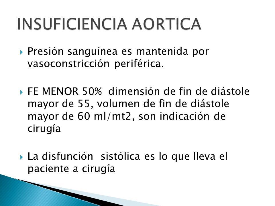 Evitar hipovolemia Evitar hipotensión o hipertensión Evitar taquicardia Puede ser necesario uso de inotrópicos