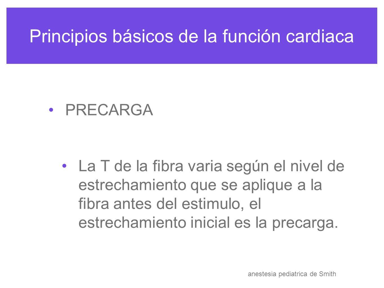 Principios básicos de la función cardiaca anestesia pediatrica de Smith anesthesia congenital heart disease