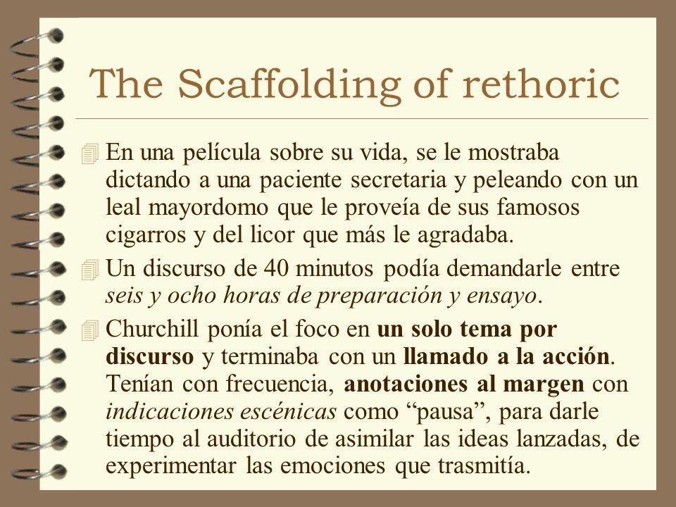 The Scaffolding of rethoric 4 En una película sobre su vida, se le mostraba dictando a una paciente secretaria y peleando con un leal mayordomo que le
