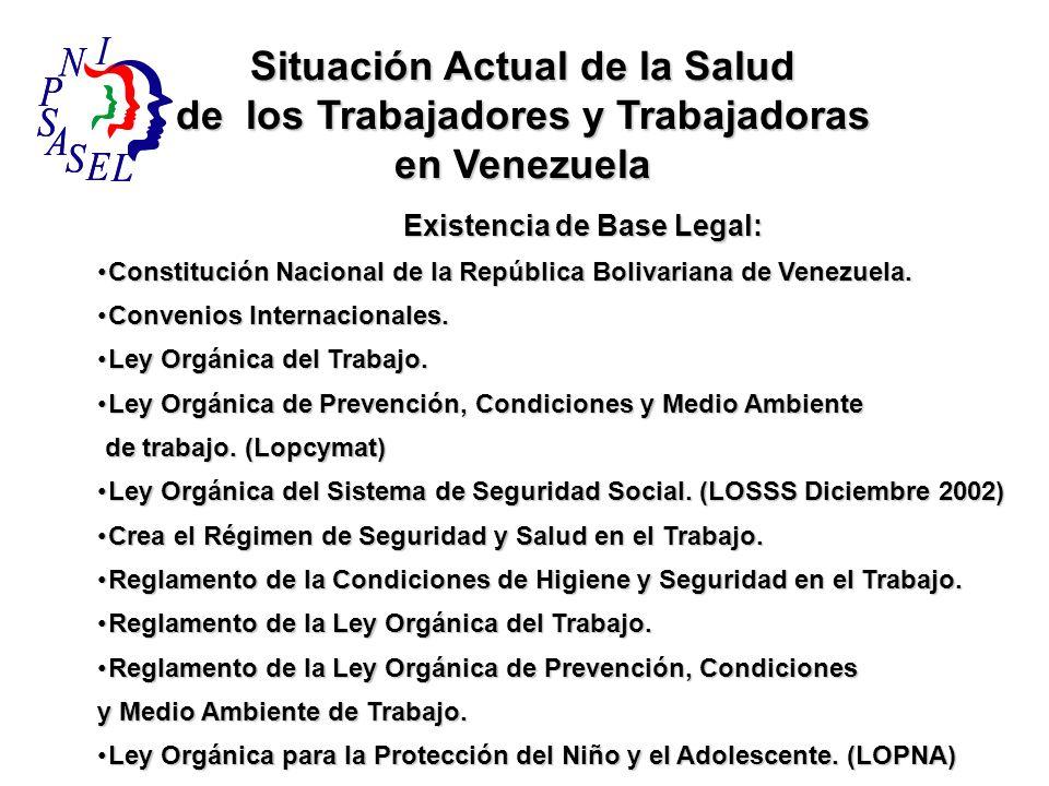 Existencia de Base Legal: Existencia de Base Legal: Constitución Nacional de la República Bolivariana de Venezuela.Constitución Nacional de la Repúbli