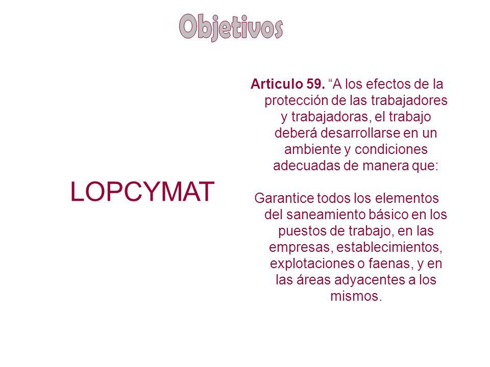 ¿Qué es la LOPCYMAT.