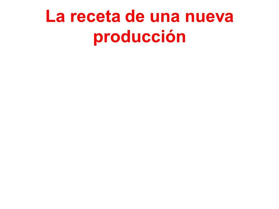 La receta de una nueva producción