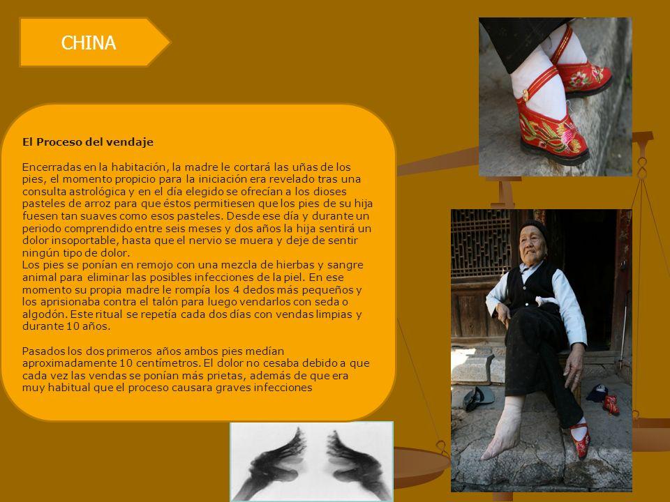 CHINA El Proceso del vendaje Encerradas en la habitación, la madre le cortará las uñas de los pies, el momento propicio para la iniciación era revelad