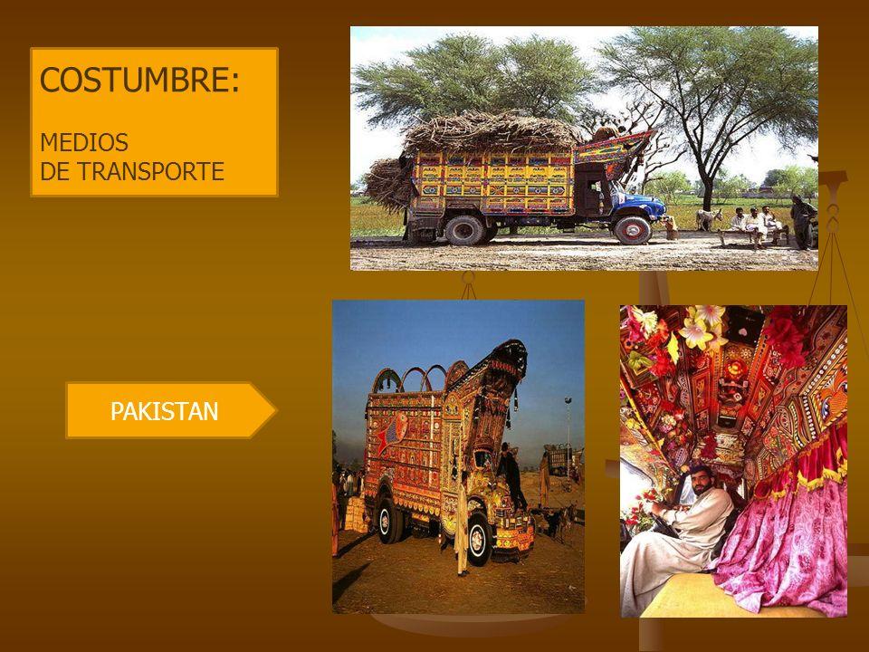 PAKISTAN COSTUMBRE: MEDIOS DE TRANSPORTE